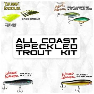 Speckled Trout Fishing Lure Kit (20 PCS)  Native Baitfish Designs  Hard and So