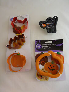 Lot of 5 Wilton Autumn Fall Halloween Cookie Cutters New