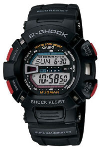 Casio G-Shock Men's Mudman Digital Black Resin Band Sport 52mm Watch G9000-1V
