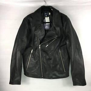 Levi's Made & Crafted Moto Black Leather Jacket Size 3Large Made In Italy NWT