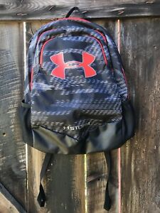 NEW Under Armour UA Scrimmage STORM Backpack YOUTH Black Red School College NWT
