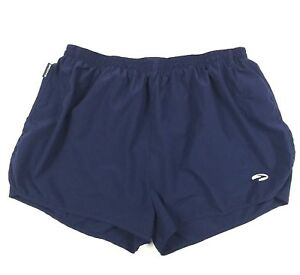 Brooks Womens L Running Shorts Lined Athletic Solid Navy Blue Large