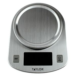New Taylor, Stainless Steel, LED Kitchen Scale, 11 LB Capacity 38979