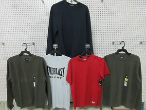 5 MEN'S CLOTHES T-SHIRT EVERLAST ATHLETIC WEAR SMALL SM SWEATER SPORT DRY FIT