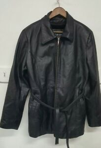 Oscar Piel Women's Jacket  Size 2XLBlack  Zip up 100% Leather OuterShell