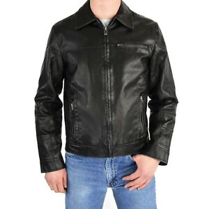 Men's S Guess Faux Leather Jacket Motorcycle Jacket  Rockabilly 1950's retro