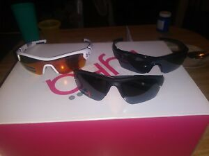 For sale are 3 pairs of Under Armour Sunglasses Youth $210 value baseball sport