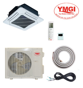 YMGI 24000 BTU Ceiling Cassette Mini Split Air Conditioner heat pump Single Zone