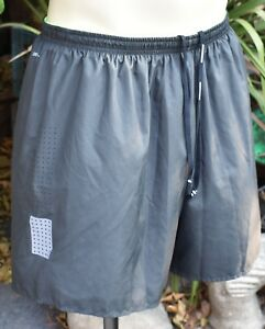 NIKE DRI FIT RUNNING SHORTS GRAY WITH LINER US MEN'S SZ XL VENTED BREATHABLE