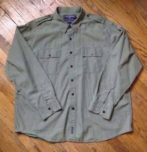 Polo Sport Ralph Lauren Vintage Military Button Front Shirt 2XL  XXL