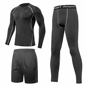 SPARIN Fitness Clothing Set Compresssion Base Layer Long Sleeve T-shirt + + Dry