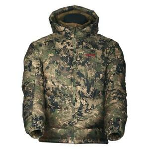 Sitka Kelvin Down Hoody Jacket 750 Fill Ground Forest Camo Hunting Coat LXL3XL