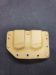 Fits Glock 9/40 Single Stack Kydex Double Pistol Mag Carrier