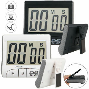 Magnetic Digital Kitchen Timer Stopwatch Large LCD Screen Cooking Alarm Stand $9.28