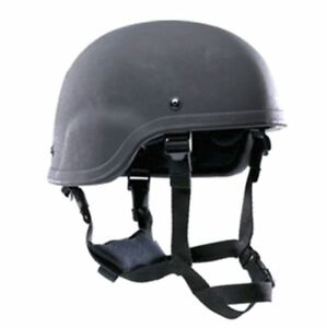 Military Army Bulletproof PASGT IIIA Tactical Combat Ballistic Helmet New Black