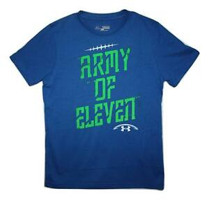Under Armour Boys Charged Cotton Army of 11 Football T-Shirt X-Larg Blue nwt $30