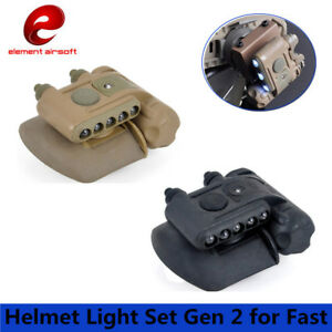 Tactical Helmet Light Set Gen 2 for Fast White Red IR Led Gen II Hunting Lamp