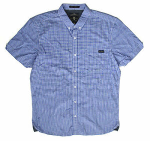 Tokyo Laundry Mens Blue Short Sleeve Ritchie Gingham Shirt [1H7975] Size L