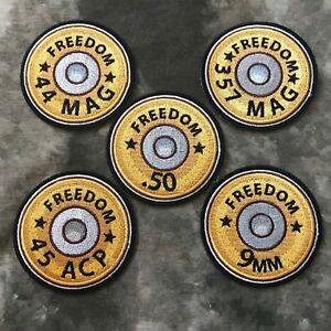 Freedom Bullet Casing Caliber Patch