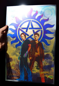 Supernatural rare METALLIC FOIL PRINT 11x17 Winchester Brothers