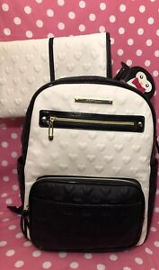 BETSEY JOHNSON Diaper Bag Backpack Tote Baby Shower Penguin Pacifier Case NWT