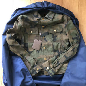 Supreme x Louis Vuitton Denim Trucker Jacket Camo Monogram SZ 46