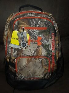 UNDER ARMOUR HUSTLE BACKPACK  CAMO STORM  REALTREE XTRA 1247302 NWT