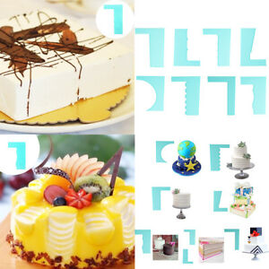 Plastic Baking Supply Mousse Pastry Edge Smoother Cake Scraper Decor DIY 8 Style