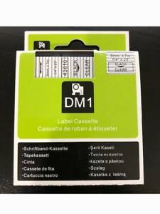 1PK Compatible Black on Clear DYMO D1 43610 S0720530 Labelmanager Labe