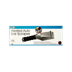 Heated Auto Ice Scraper With Flashlight