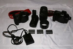 Canon 5D and 50D w Sigma 70-300 OS Lens and Battery Grip