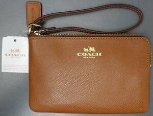 Coach Small Brown Leather Organizer Wallet Wristlet Purse New w Tags