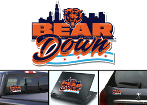 Chicago Bears Bear Down Football Vinyl Decal