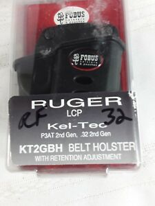 polymer holster for Ruger and Kel Tec pistols made by Fobus