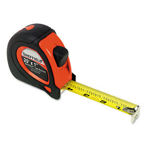 Great Neck Sheffield ExtraMark Tape Measure Red with Black Rubber Grip 1