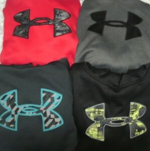 UNDER ARMOUR Lot size Youth Large Hoodies Black Gray Red Blue Camo UA YL