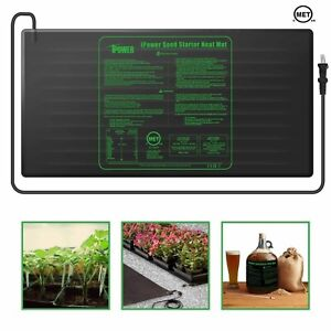 iPower MET Certified Seedling Heat Mat Starter Warm Hydroponic Heating Pad 3Size