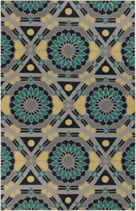 Surya Hand Knotted Kaleidoscope Gray KAL-8005 Area Rug