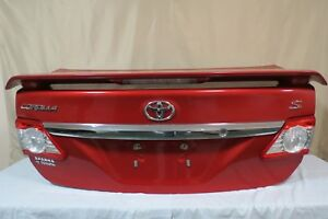 ✅ 11 12 13 Toyota Corolla S Trunk Lid Deck Assembly Red Metallic w Spoiler OEM