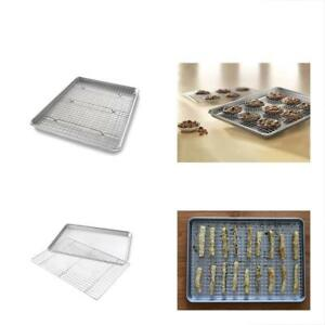 1606CR Baking & Cookie Sheets Half Pan And Bakeable Nonstick Cooling Rack Metal