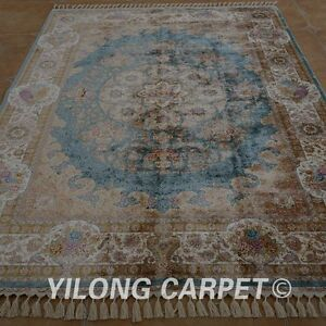 YILONG 5.5'x8' Persian Hand Knotted Silk Rug Furniture Durable Home Carpet 1567
