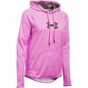 $65 Under Armour Caliber Women's Hoodie Sz MEDIUM 1286058-723 Realtree Pink NWT