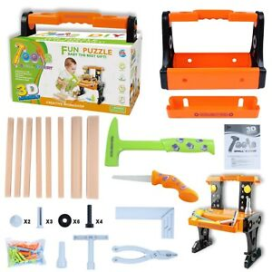 Kids Construction Set Toy Children kids Role Play Tool Real Starter Kit 24Pcs