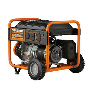 Generac 5939 GP5500 5500 Watt Portable Generator Reconditioned 6875W Surge
