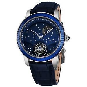 Graham Men's 46mm Blue Alligator Leather Band Mechanical Watch 2GGAW.U01A