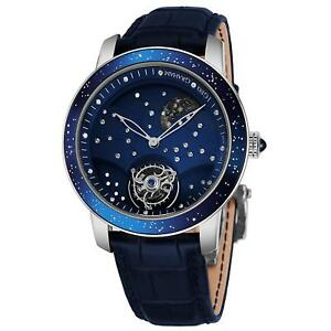 Graham Men's 46mm Blue Alligator Leather Band Mechanical Watch 2GGAW.U01B