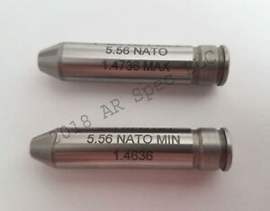 Forster Headspace Gauge set 5.56 NATO MIN and 5.56 NATO MAX