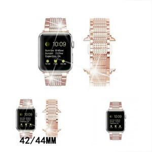 Band For Apple Watch Diamond Band Rhinestone Luxury Stainless Steel Replacement