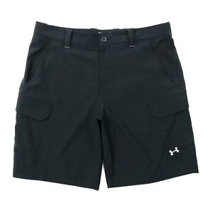 Under Armour Heat Gear Loose Fit Black Lightweight Stretch Quick Dry Shorts 36