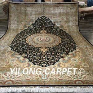YILONG 10'x14' Handknotted Persian Silk Rug Classic Durable Home Carpet Z001A